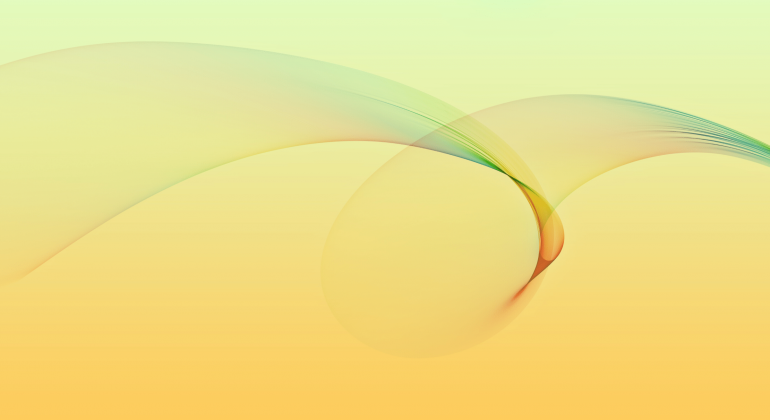 gentle image of an abstract swirl on a yellow background